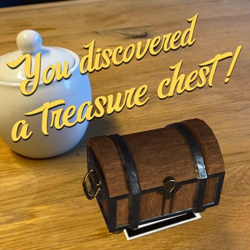 web AR XR+ webAR treasure chest
