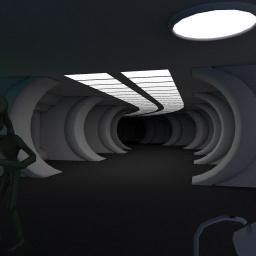 Sci-Fi alien control room