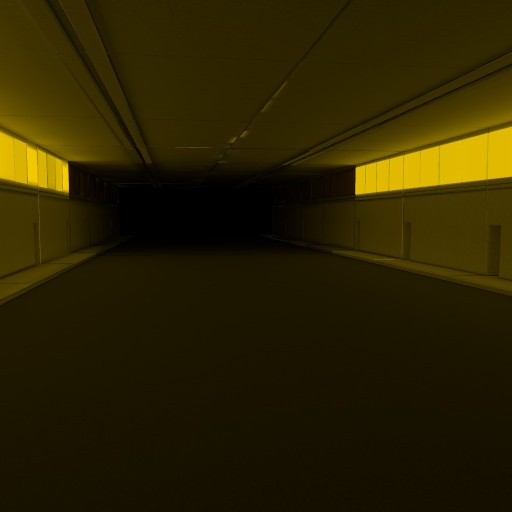 web vr night scene tunnel