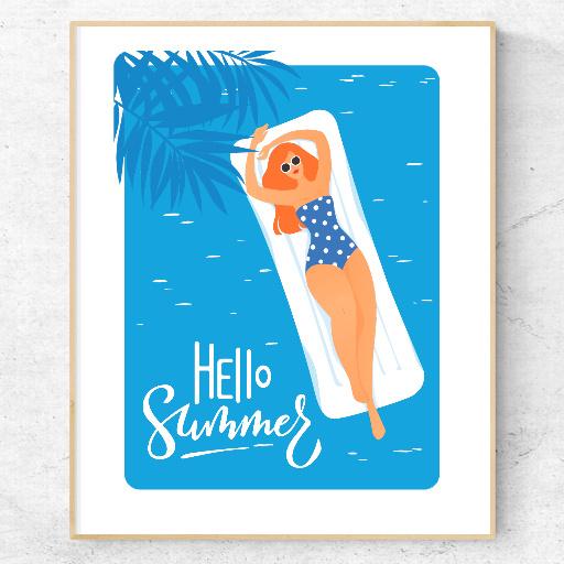 web AR XR+ 2.5D poster: Enjoy summer
