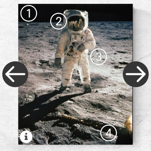 web AR XR+ Moon Apollo photos